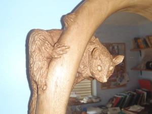 Possum carved frame